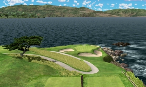 Pebble Beach trou 7 sur simulateur