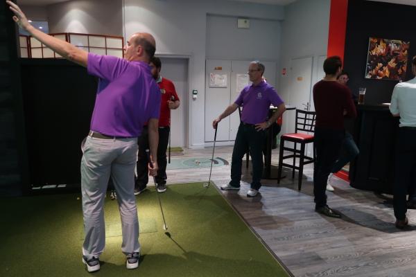 soirée entre amis avec partie de golf