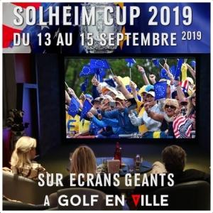 Projection Solheim Cup à Golf en Ville sur écran géant