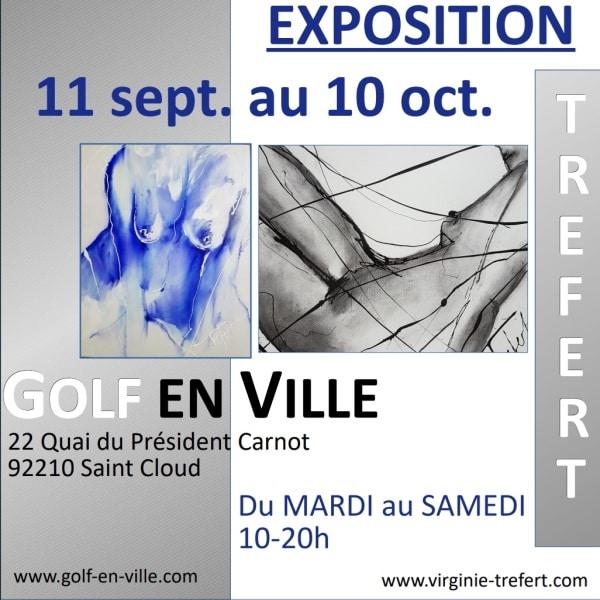 Expo artiste Virgine Trefet à Golf en Ville