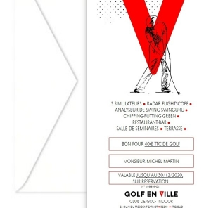 Bon Cadeau Golf en Ville