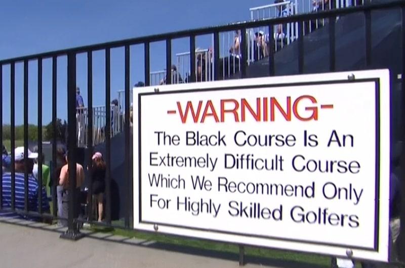 Warning at Bethpage Black