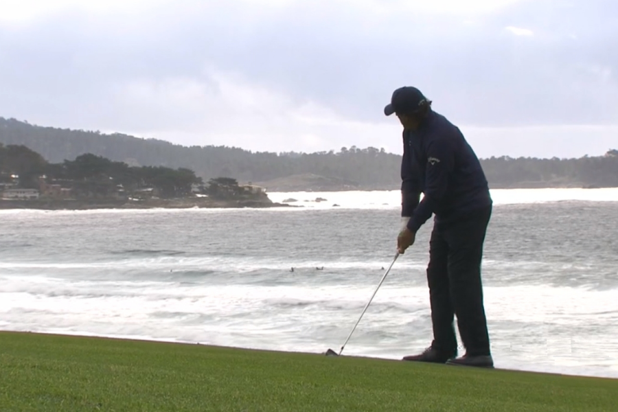 Phil Mickelson at Pebble Beach US Open 2019