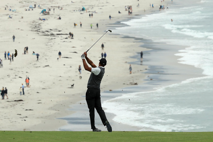 Tiger Woods at Pebble beach US Open 2019