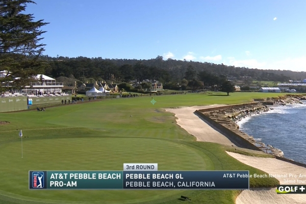 Pebble beach trou 18