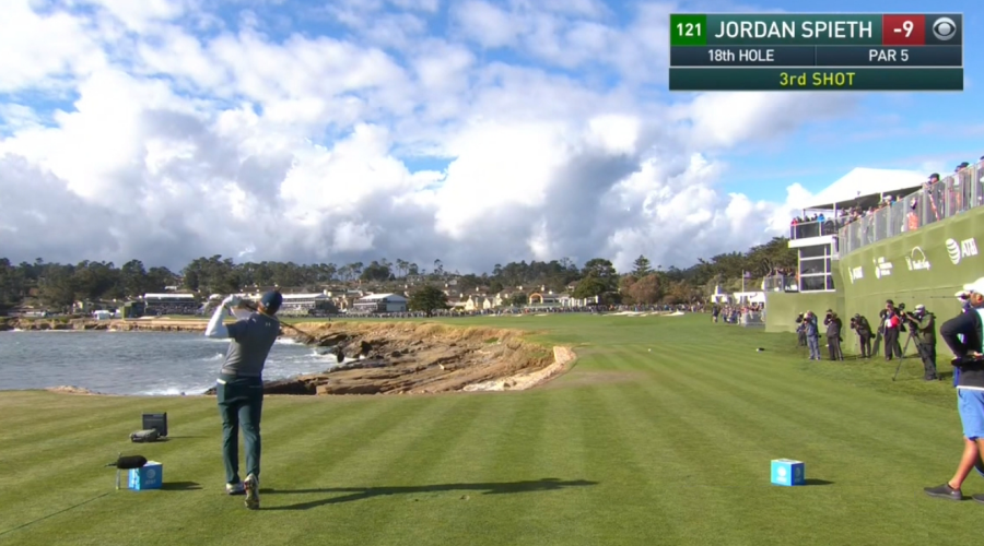 Pebble beach trou 18 Jordan Spieth