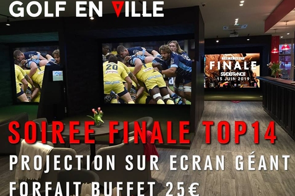 retransmission finale top14 sur écran géant à Saint-Cloud