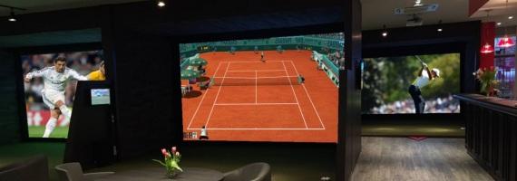 Retransmission d'événements sportifs sur écrans géants