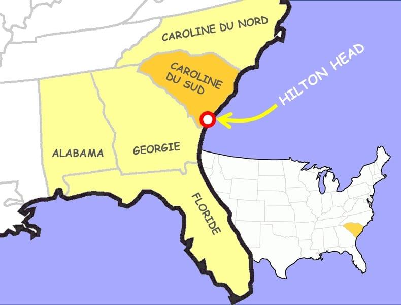 Hilton Head au Sud-Est de la Caroline du Sud