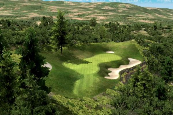 golf indoor de paris Sanctuary parcours sur simulateur