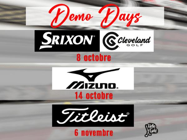 Affiche pour les dates du Demo Days à Golf en Ville